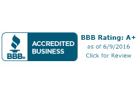 Better Business Bureau A=+ Rating